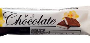 """Молочный шоколад с начинкой """"Нуга со вкусом ванили"""""""