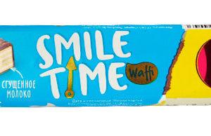 Вафельный батончик «Smile Time» сгущенное молоко