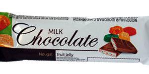 """Молочный шоколад с начинкой """"Нуга с цветными мармеладками"""""""