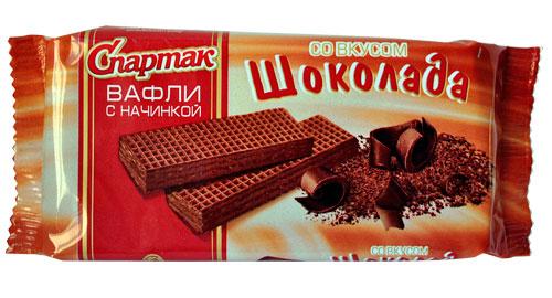 Вафли со вкусом шоколада
