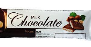 """Молочный шоколад с начинкой """"Ореховая нуга"""""""