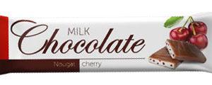 """Молочный шоколад с начинкой """"Вишневая нуга"""""""