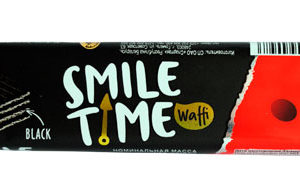 Вафельный батончик «Smile Time» black