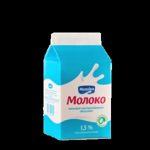 """Молоко пастеризованное """"Вкусное"""" 1,5%"""