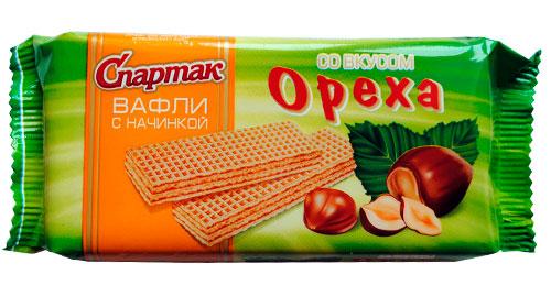 Вафли со вкусом ореха
