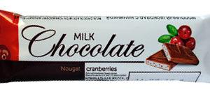 """Молочный шоколад с начинкой """"Клюквенная нуга"""""""