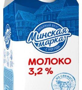 """Молоко пастеризованное """"Минская марка"""" 3,2% 1,5 литра"""