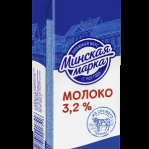 """Молоко стерилизованное """"Минская Марка"""" 3,2% 0,25 л"""