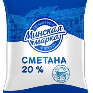 """Сметана """"Минская марка"""" 20% 400 г"""
