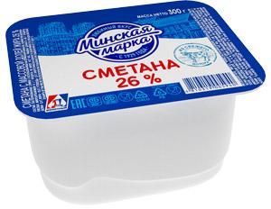 """Сметана """"Минская марка"""" 26% 300 г"""