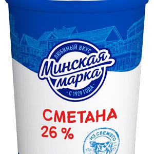 """Сметана """"Минская марка"""" 26% 380 г"""