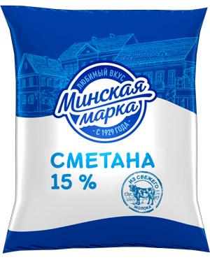 """Сметана """"Минская марка"""" 15% 400 г"""