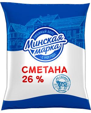 """Сметана """"Минская марка"""" 26% 400 г"""